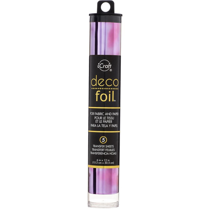 Deco Foil 15cm x 30cm Sheets - AMETHYST WATERCOLOUR  5 Pk