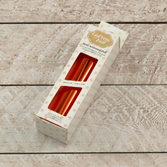 Couture Creations Heat Activated Foil RED COPPER (Mirror Finish) - 125mm x 5m  CO725696