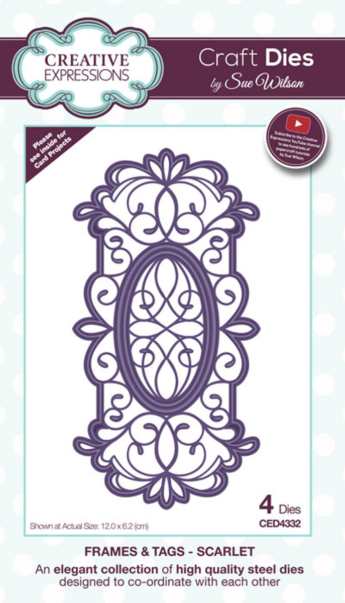 Sue Wilson Frames & Tags Collection Dies - Scarlet CED4332