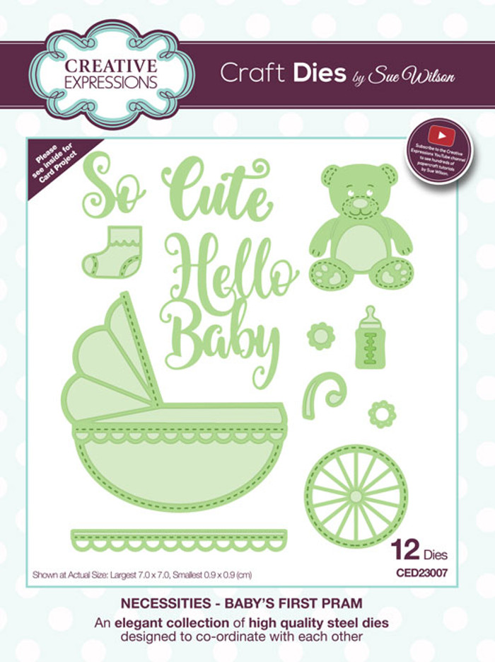 Sue Wilson Necessities Collection Dies - Baby's First Pram CED23007