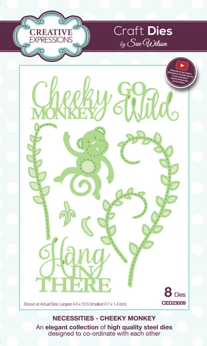 Sue Wilson Necessities Collection Dies - Cheeky Monkey CED23009