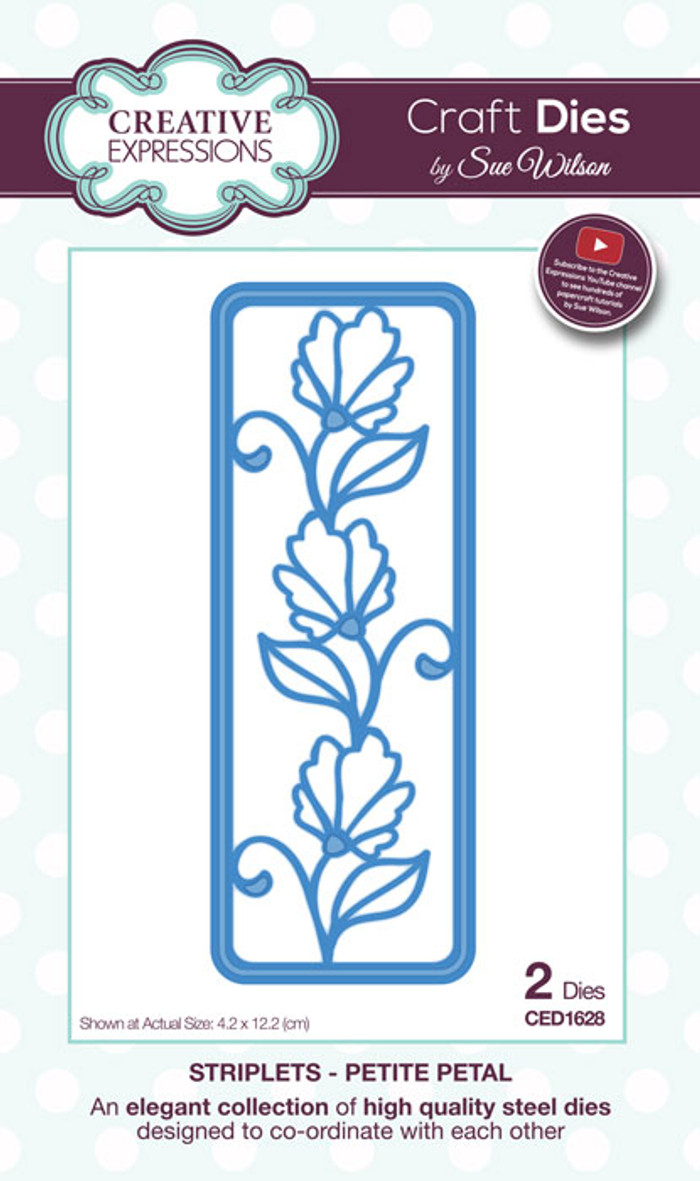 Sue Wilson Striplets Collection Dies - Petite Petal CED1628