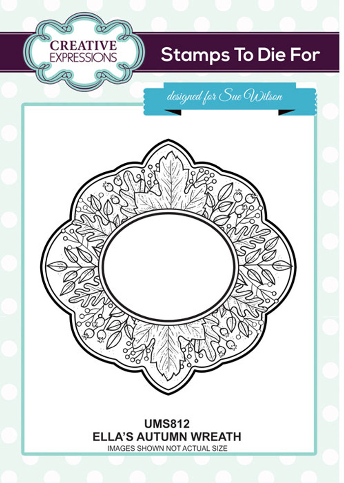 Sue Wilson Stamps To Die For - Ella's Autumn Wreath UMS812