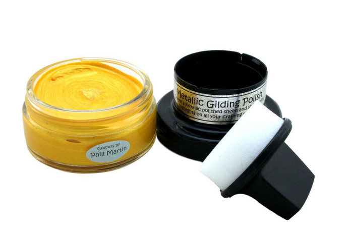 Cosmic Shimmer Metallic Gilding Polish 50ml Pot - BRIGHT SUNSHINE
