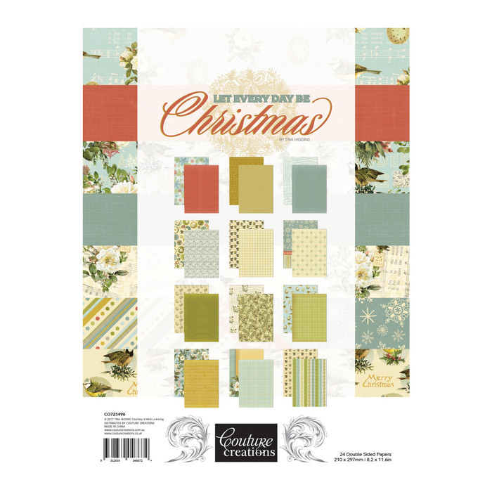 Couture Creations - Let Every Day Be Christmas A4 Paper Pad CO725490