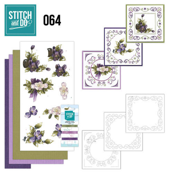 Stitch and Do 64 - Card Embroidery Kit - The Nature of Christmas