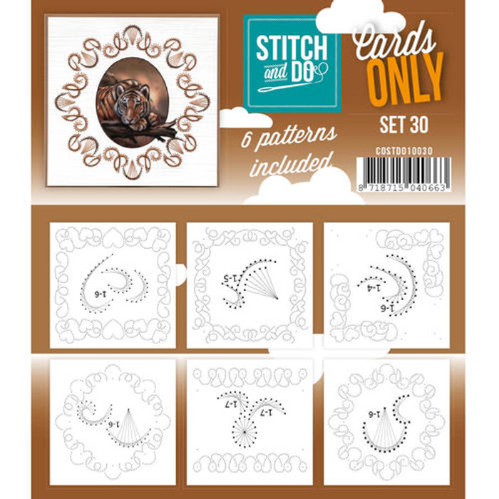 Stitch and Do Card Stitching Cardlayers Only - Set 30