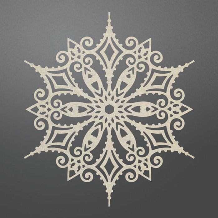 Couture Creations Chipboard  - Ornate Snowflake CO725714