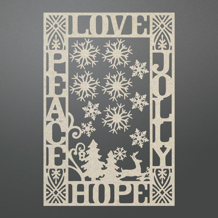 Couture Creations Chipboard  - Jolly Peace Frame Set CO725715