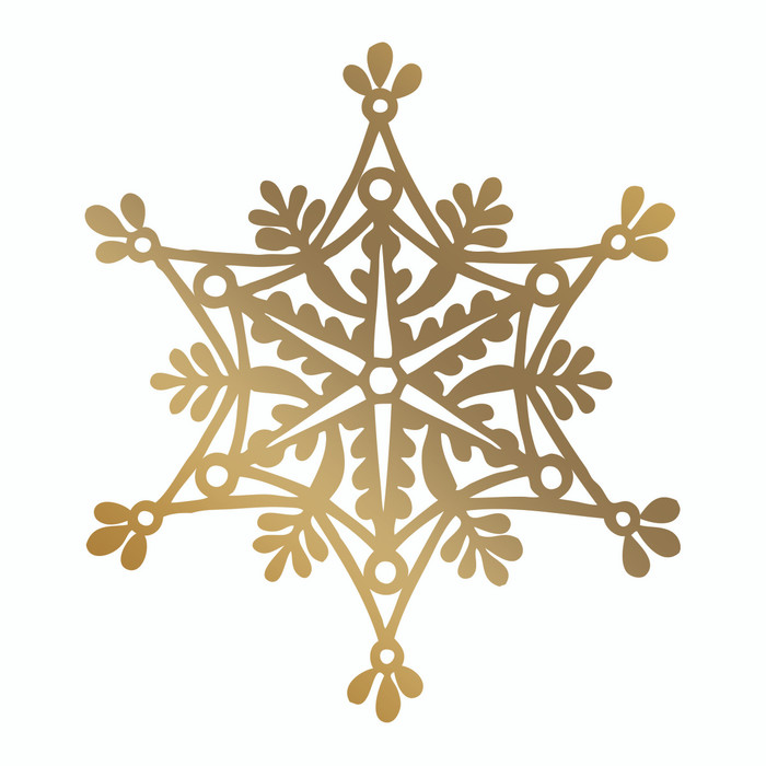 Couture Creations Hotfoil Stamp - Snowflake  CO725574
