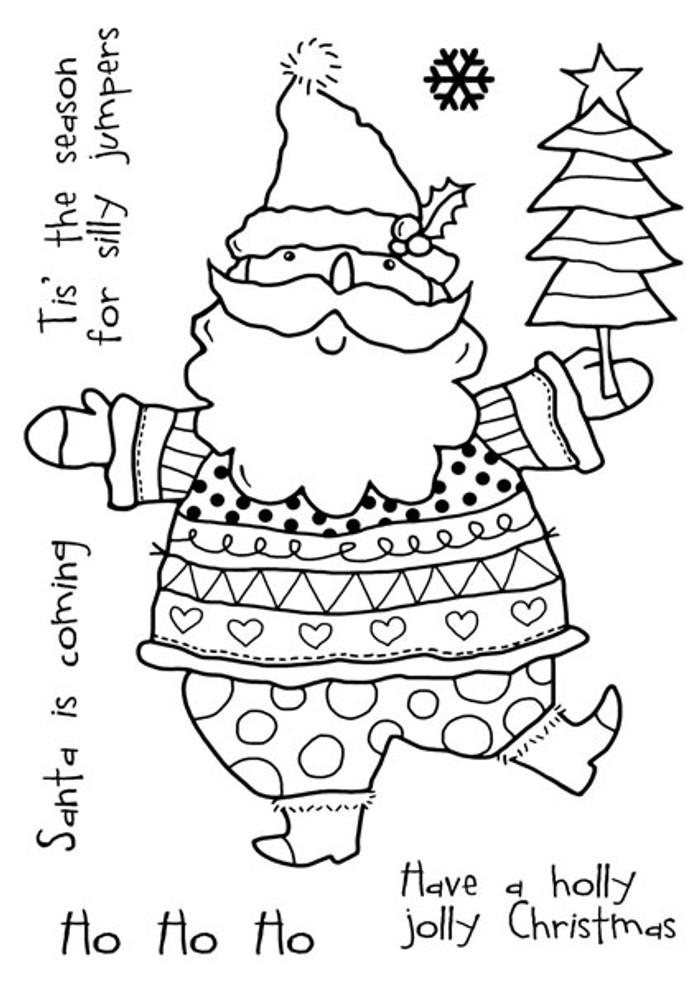 Woodware Clear Stamp - Santas Silly Jumper FRS624