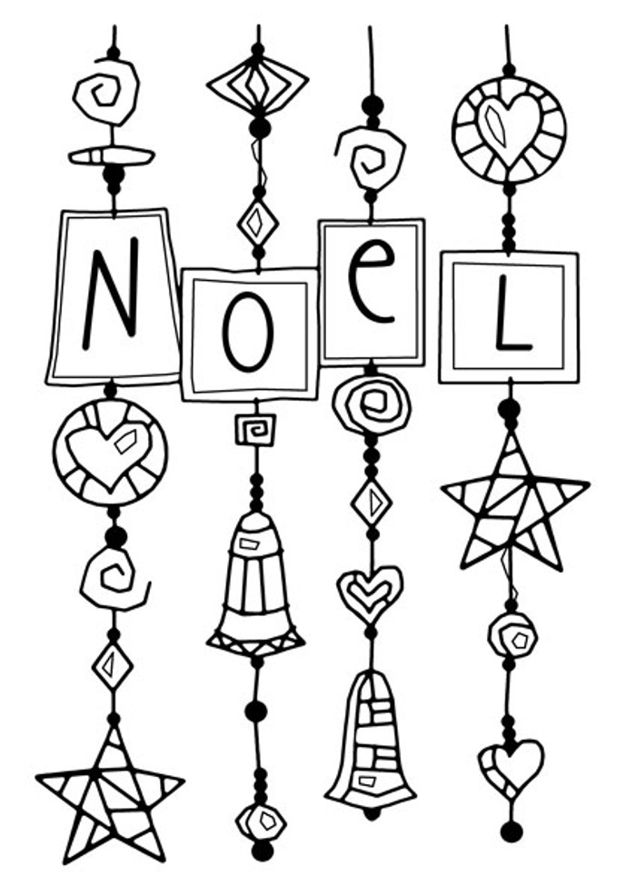 Woodware Clear Stamp - Noel Dangles FRS662