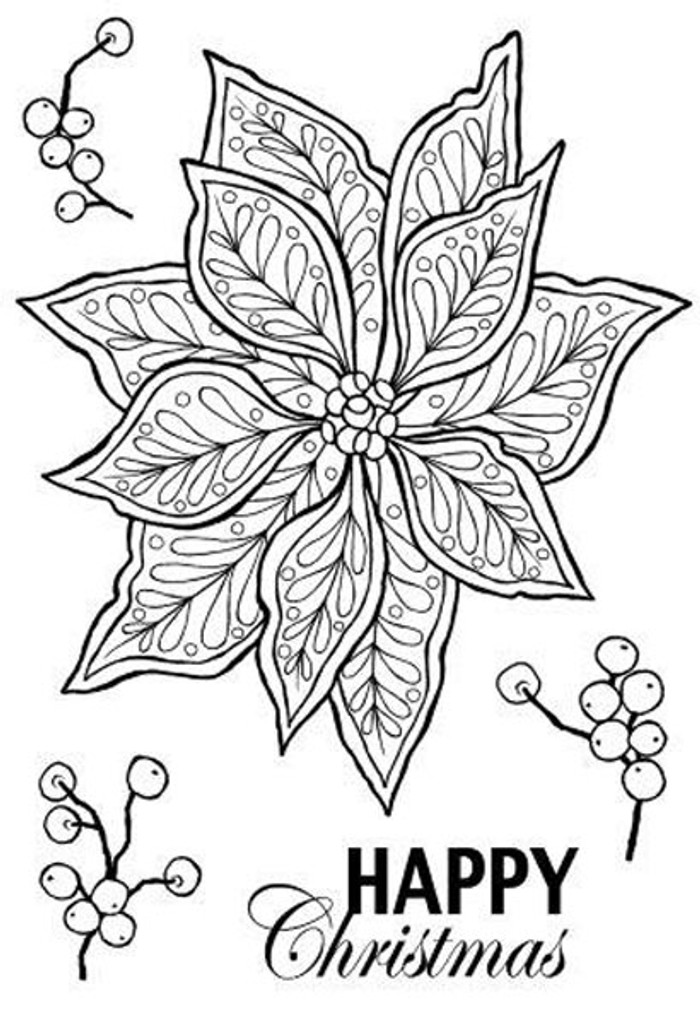 Woodware Clear Stamp Set - Doodle Poinsettia JGS537