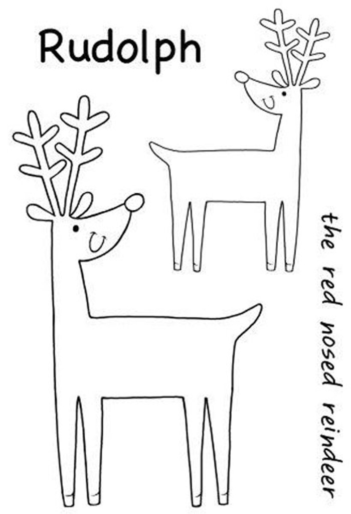Woodware Clear Stamp Set - Cheeky Reindeer JGS539