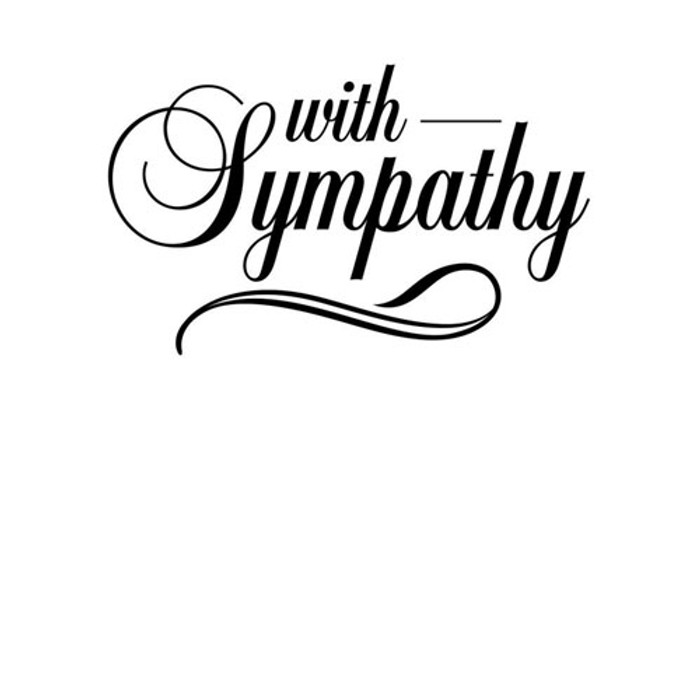 Darice Embossing Folder - With Sympathy EB12