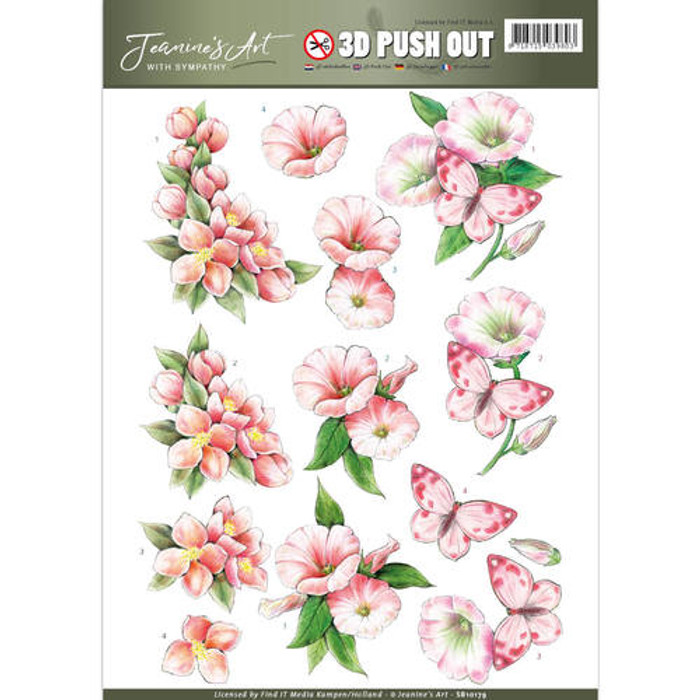 3D Die-Cut Sheet  Jeanines Art  - With Sympathy  SB10179