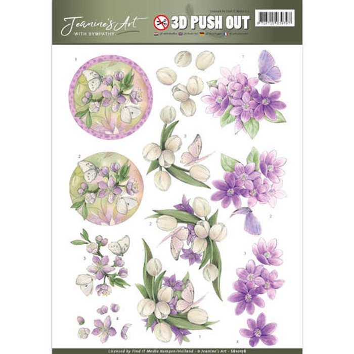 3D Die-Cut Sheet  Jeanines Art  - With Sympathy  SB10178