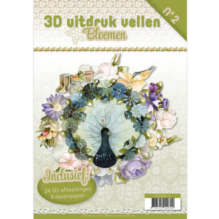 3D Die-Cut Book Card Deco  - Flowers
