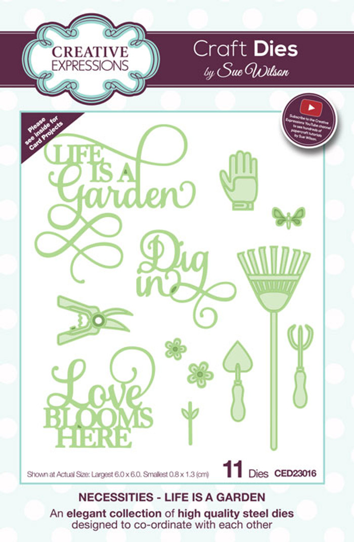 Sue Wilson Necessities Collection Dies - Life is a Garden CED23016