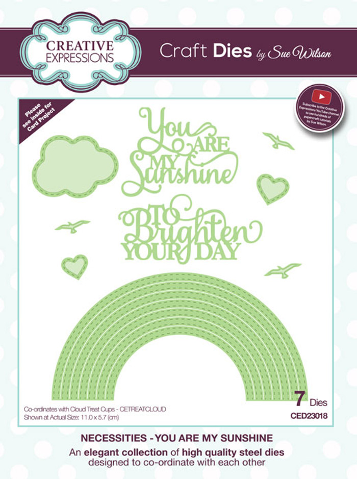 Sue Wilson Necessities Collection Dies - You Are My Sunshine CED23018