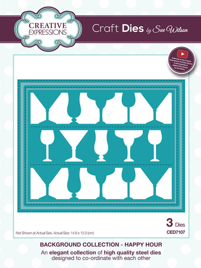 Sue Wilson Background Collection Die - Happy Hour CED7107