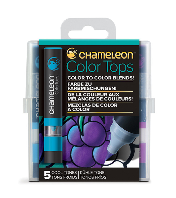 Chameleon 5 Color Tops COOL TONES Set