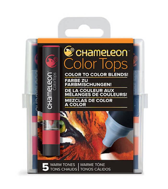 Chameleon 5 Color Tops WARM TONES Set