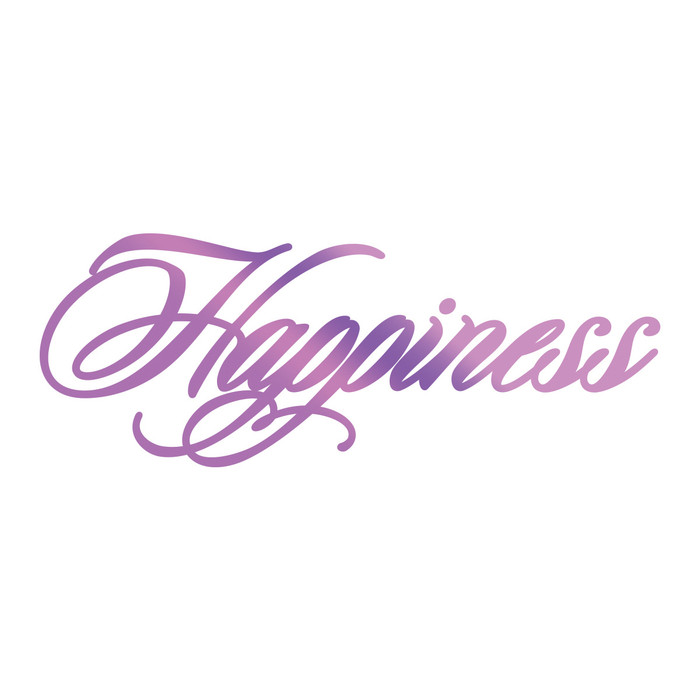 Couture Creations Hotfoil Stamp Everyday Sentiments  - Happiness CO725826