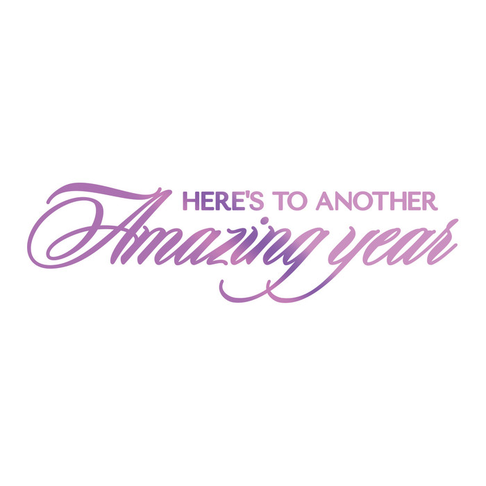 Couture Creations Hotfoil Stamp Everyday Sentiments  - Amazing Year CO725833