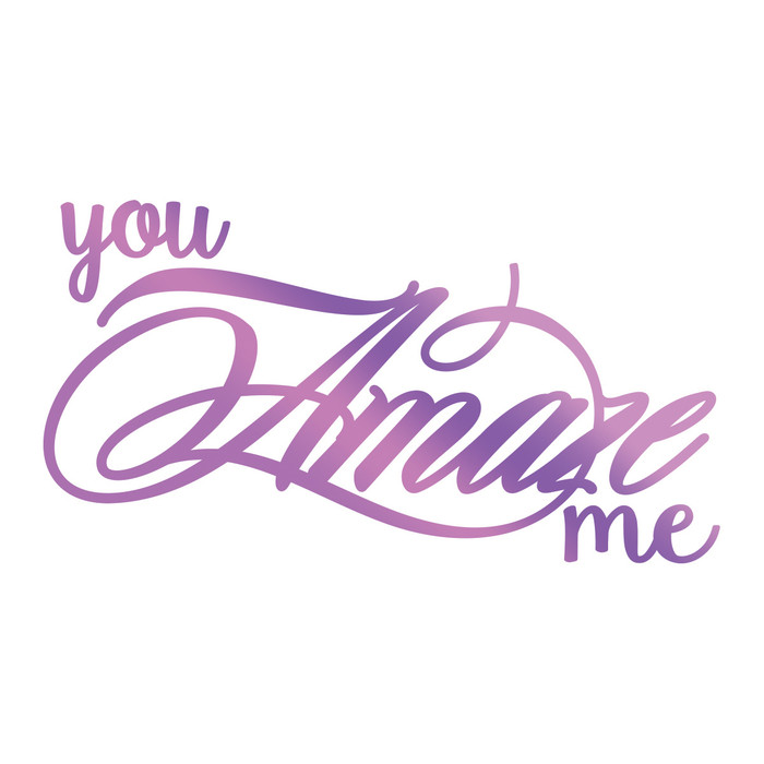 Couture Creations Hotfoil Stamp Everyday Sentiments  - Amaze Me CO725834
