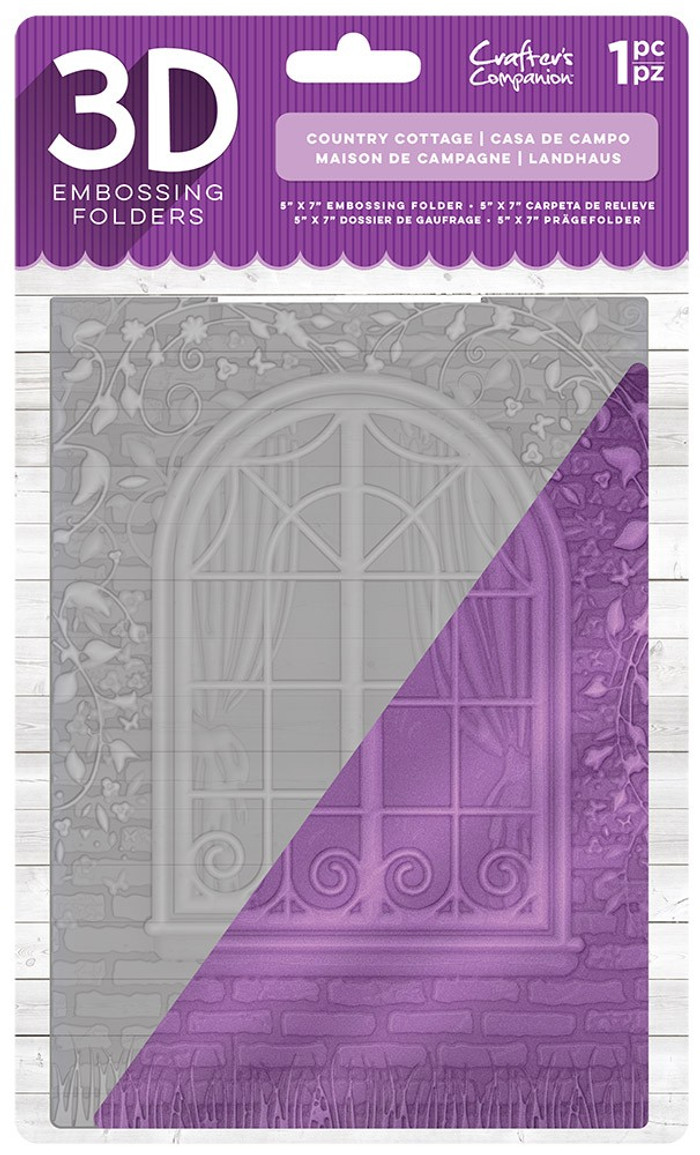 "Crafter's Companion 3D Embossing Folder 5"" x 7""- Country Cottage"