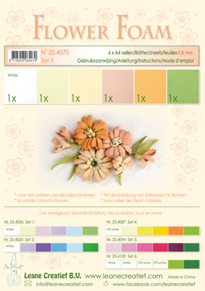 Leanne Creatief  Flower Foam Assortment 3 - Salmon - LCR25.4070