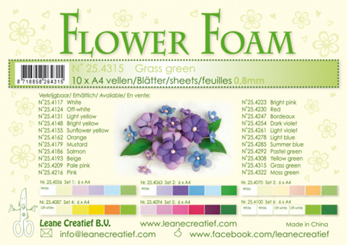 Leanne Creatief  Flower Foam Sheets  - Grass Green LCR25.4315