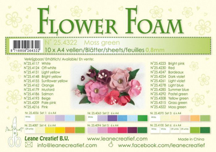 Leanne Creatief  Flower Foam Sheets  - Moss Green LCR25.4322