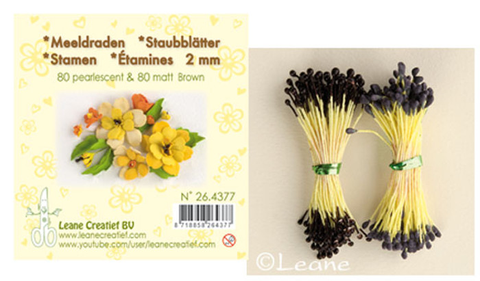 Leanne Creatief  Stamens - 2mm Brown LCR26.4377