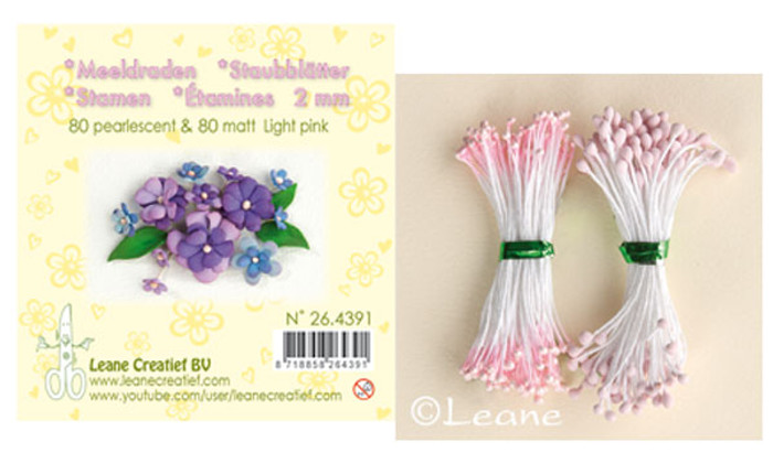 Leanne Creatief  Stamens - 2mm Light Pink LCR26.4391