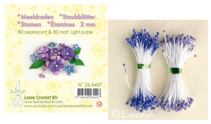 Leanne Creatief  Stamens - 2mm Light Purple LCR26.4407