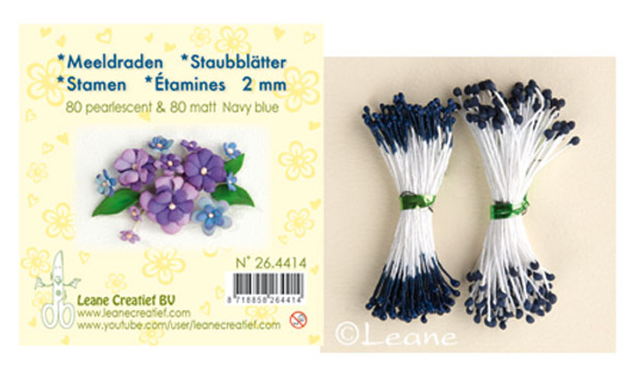 Leanne Creatief  Stamens - 2mm Navy Blue LCR26.4417