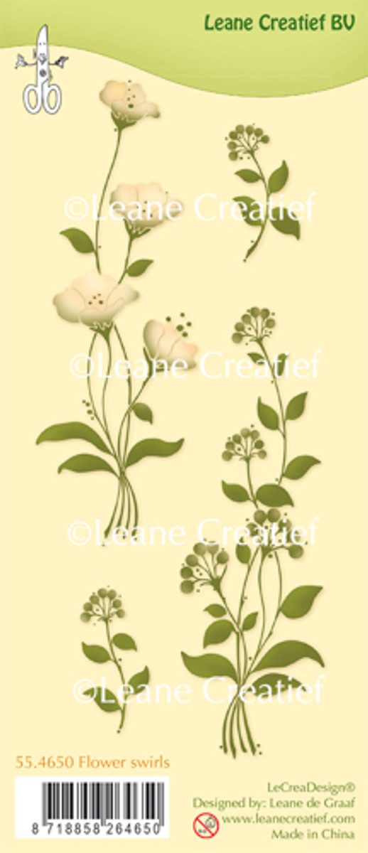Leanne Creatief  Clear Stamps - Flower Swirls  LCR55.4650