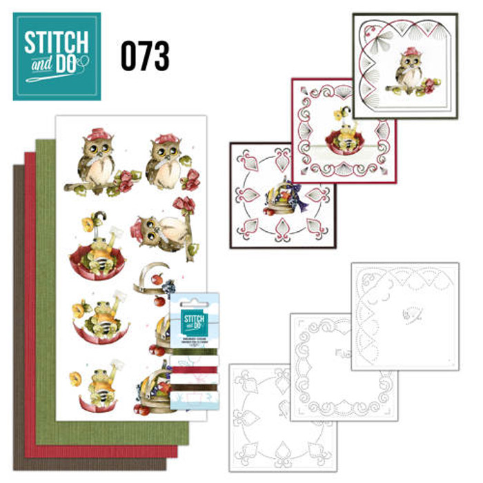 Stitch and Do 73 - Card Embroidery Kit - Get Well Soon STDO073