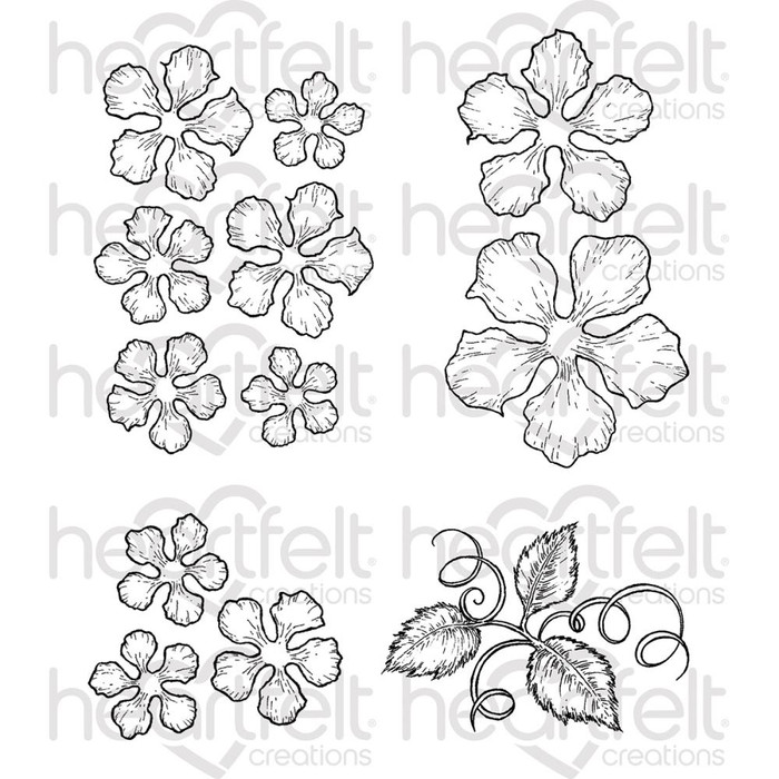 Heartfelt Creations Cling Rubber Stamp Set - Classic Rose  HCPC-3752