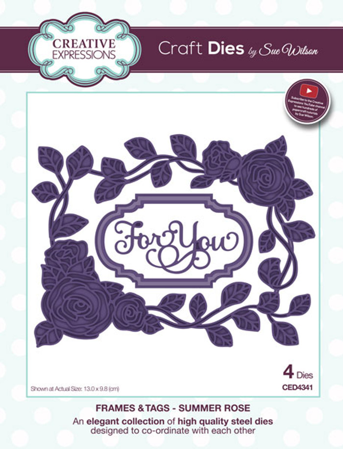 Sue Wilson Frames & Tags Dies - Summer Rose CED4341