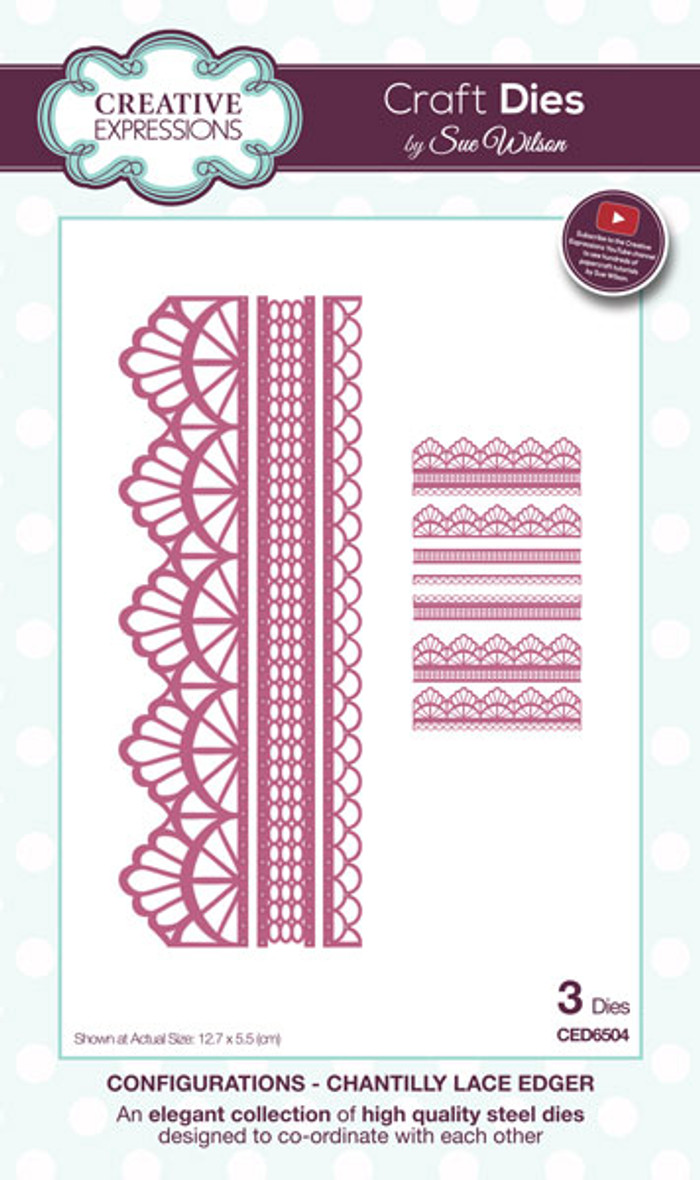 Sue Wilson Configurations Dies - Chantilly Lace Edger CED6504