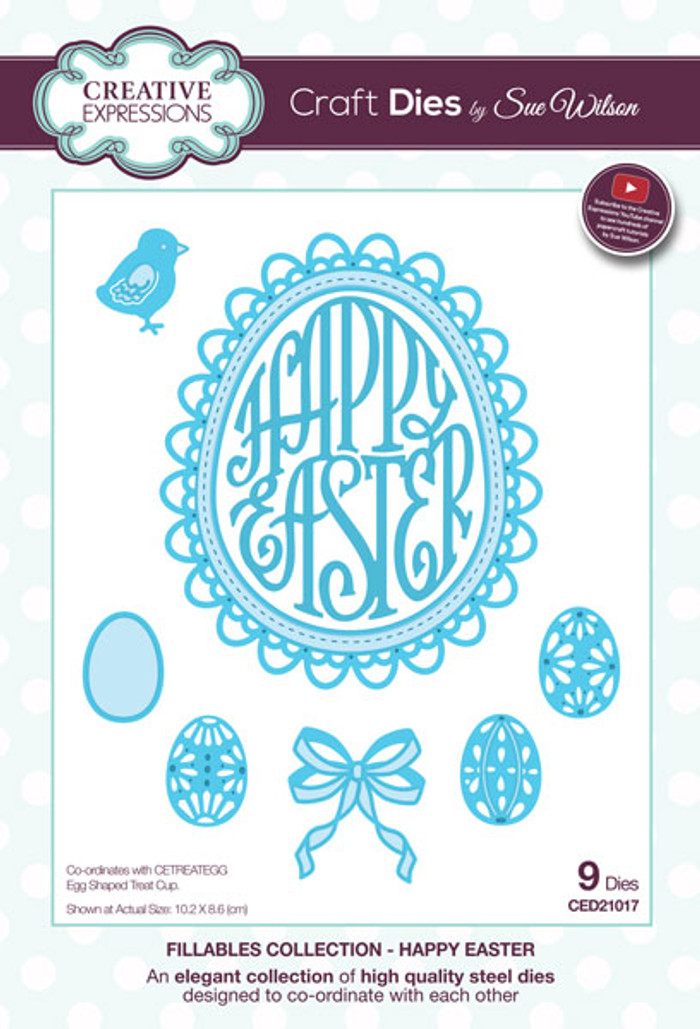 Sue Wilson Fillables Collection Dies - Happy Easter CED21017