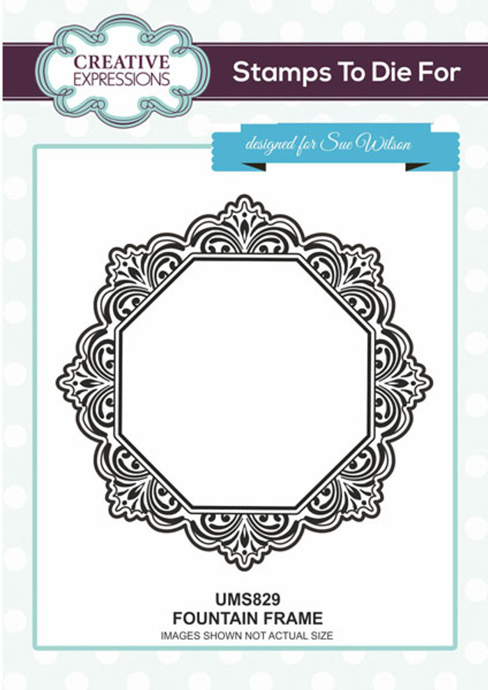 Sue Wilson Stamps To Die For - FOUNTAIN FRAME UMS829