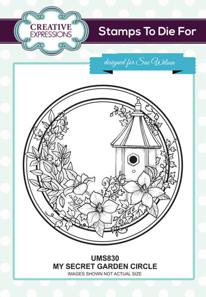 Sue Wilson Stamps To Die For -MY SECRET GARDEN CIRCLE UMS830