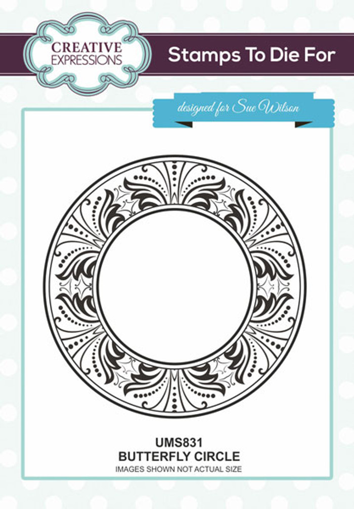 Sue Wilson Stamps To Die For - BUTTERFLY CIRCLE UMS831