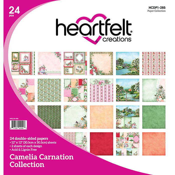 Heartfelt Creations Camelia Carnation Paper Pack 30cm x 30cm