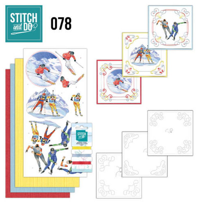Stitch and Do 78 - Card Embroidery Kit - Winter Sports