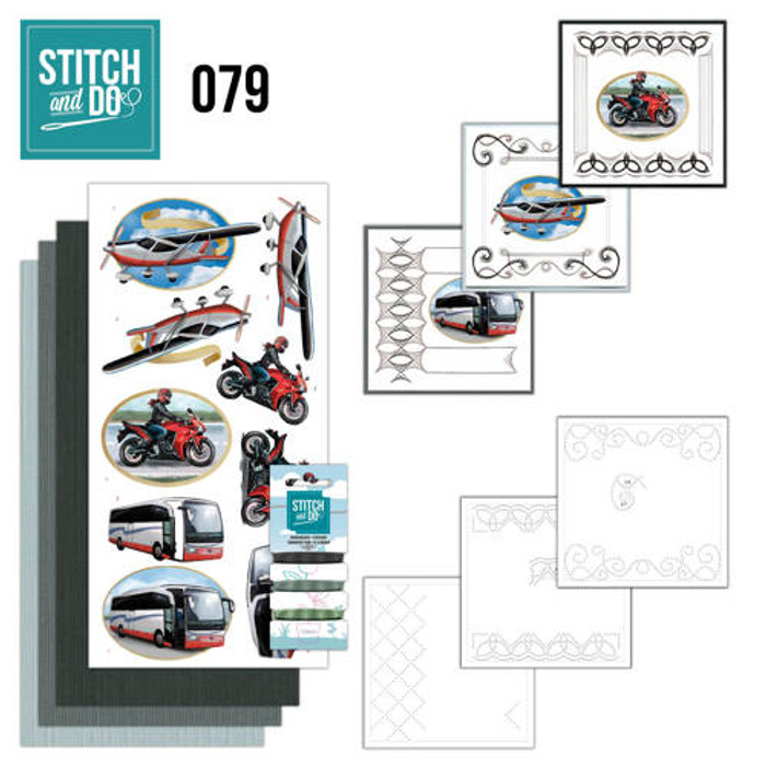 Stitch and Do 79 - Card Embroidery Kit - Daily Transport